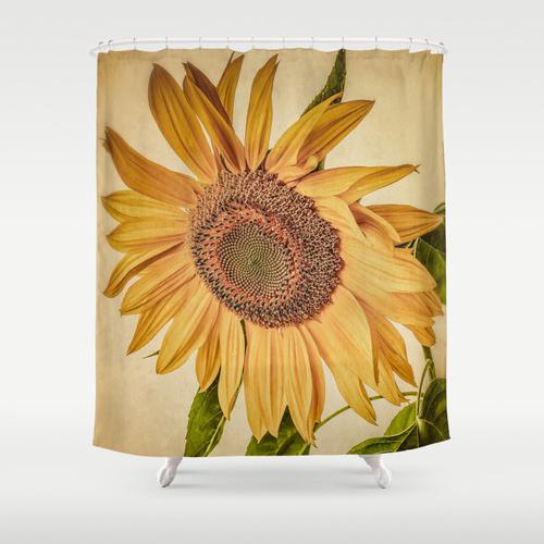 New! Sunflower Shower Curtains