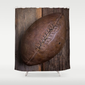 American football shower curtain
